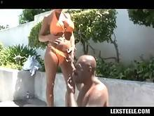 Breasted Mature Blonde Tastes Black Rod 1